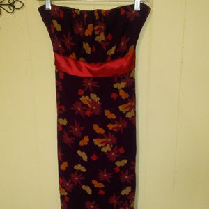 The Limited Strapless Red Flower Dress Size Sm.